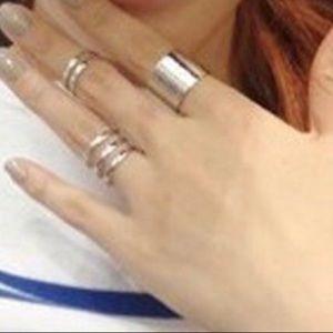 Jewelry - 3 Piece Silver Midi Ring Set